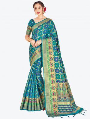 Blue Banarasi Art Silk Designer Saree small FABSA20521