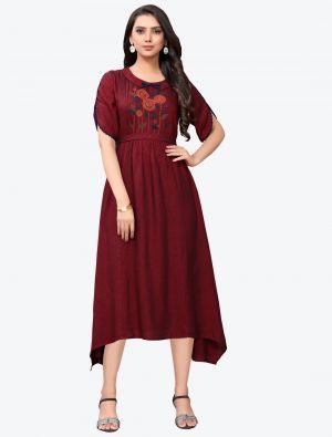 /pr-fashion/202011/maroon-linen-long-kurti-fabku20126.jpg