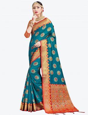 Blue Banarasi Art Silk Designer Saree small FABSA20548