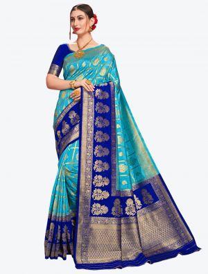 Blue Banarasi Art Silk Designer Saree small FABSA20559