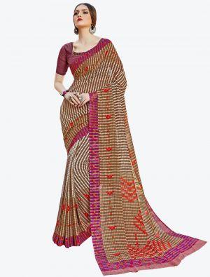 Multicolor Georgette Designer Saree small FABSA20584