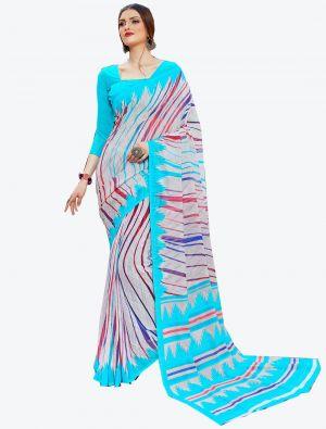 Multicolor Georgette Designer Saree small FABSA20593
