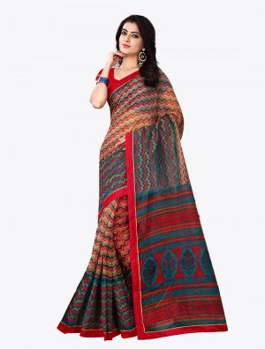 Multicolor Kota Silk Designer Saree small FABSA20616