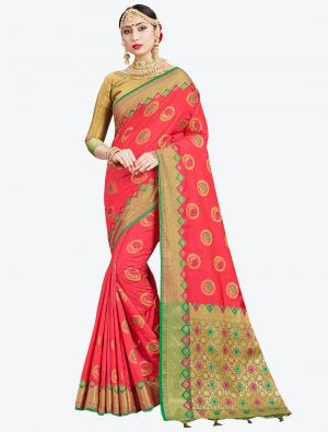 Pink Banarasi Art Silk Designer Saree small FABSA20549