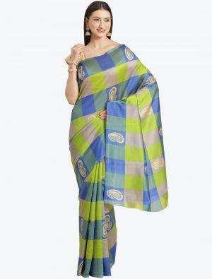 Multicolor Bhagalpuri Art Silk Designer Saree small FABSA20866