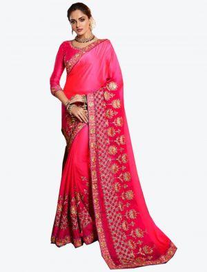 Pink Dola Silk Designer Saree small FABSA20774