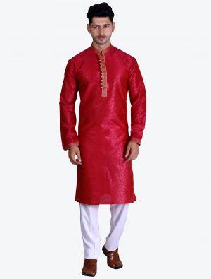 /theethnicworld/202102/red-pure-art-silk-kurta-with-pajama-fabme20084.jpg