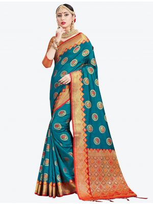 Blue Banarasi Art Silk Designer Saree small FABSA20548