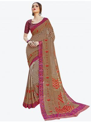 Multicolor Georgette Designer Saree small FABSA20584
