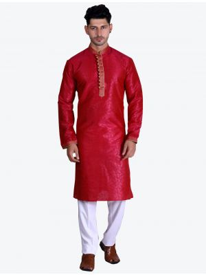 /theethnicworld/202102/red-pure-art-silk-kurta-with-pajama-fabme20084.jpg