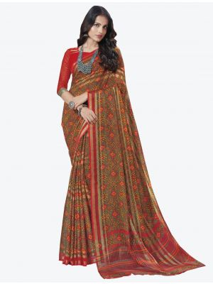Multicolor Chiffon Designer Saree small FABSA20719