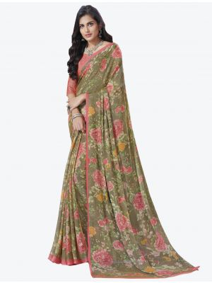 Multicolor Chiffon Designer Saree small FABSA20720